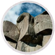 Big Rock Ear Round Beach Towel