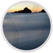 Big Sur Silk Round Beach Towel