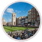 Bikes Cambridge Round Beach Towel