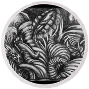 Biomorphic Round Beach Towel