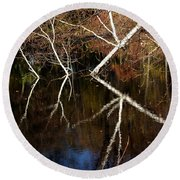 Birch Reflections Round Beach Towel