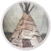Birch Teepee Round Beach Towel