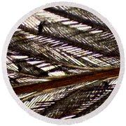 Bird Feather Round Beach Towel