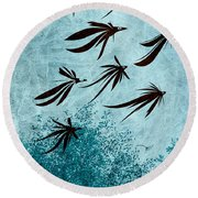 Birdeeze -v03 Round Beach Towel by Variance Collections