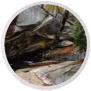 Birdrock Waterfall Round Beach Towel