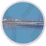 Birds Only Beach Round Beach Towel
