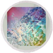 Birth Of Aphrodite From The Sea Foam Round Beach Towel