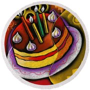 Birthday  Cake  Round Beach Towel