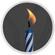 Birthday Candle Round Beach Towel
