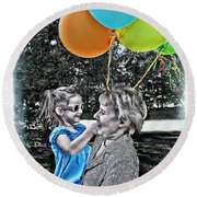 Birthdays Round Beach Towel by Joan  Minchak