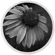 Bittersweet Memories - Bw Round Beach Towel by David Dehner