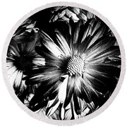 Black And White Round Beach Towel