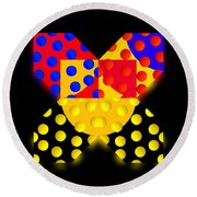 Black Mark Round Beach Towel