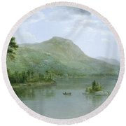 Black Mountain From The Harbor Islands - Lake George Round Beach Towel
