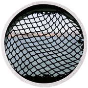 Black Net Round Beach Towel