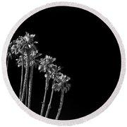 black Palms Round Beach Towel