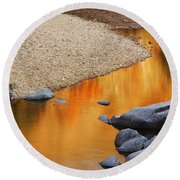 Black River Reflections At Johnsons Shut Ins State Park I Round Beach Towel