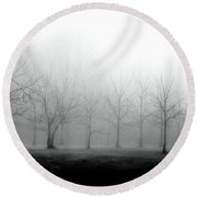 Black Walnut Trees Round Beach Towel