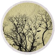 Blackbirds Roost Round Beach Towel