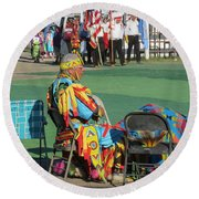 Blackfeet Pow Wow 02 Round Beach Towel