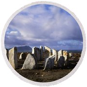 Blacksod Point, Co Mayo, Ireland Stone Round Beach Towel