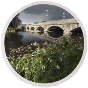 Blackwater River In Munster Region Round Beach Towel