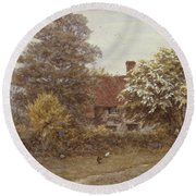 Blake's House Hampstead Heath Round Beach Towel