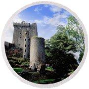 Blarney Castle, County Cork, Ireland Round Beach Towel