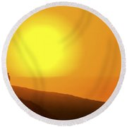 Blazing Sun Round Beach Towel
