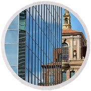 Blending Architecture  Round Beach Towel