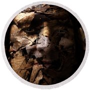 Blending In Round Beach Towel by Christopher Gaston