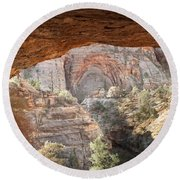 Blind Arch Overlook Round Beach Towel