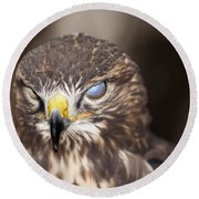 Blind Buzzard Round Beach Towel
