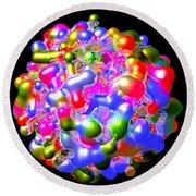 Blob Of Color... Round Beach Towel