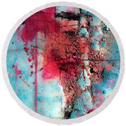 Blood And Stones  Round Beach Towel