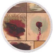 Bloodstain, Blisters, Bullet Holes, 1864 Round Beach Towel by Science Source