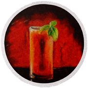 Bloody Mary Coctail Round Beach Towel