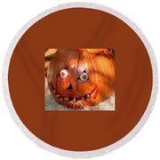 Bloody Pumpkin Round Beach Towel