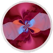 Blooming Color Round Beach Towel