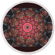 Blossoms And Branches Round Beach Towel