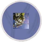 Blossoms In Bloom Round Beach Towel by Katie Cupcakes