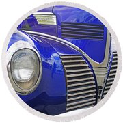 Blue And Chrome Nose Round Beach Towel