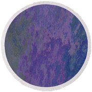 Blue And Purple Stone Abstract Round Beach Towel