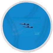 Blue Angels 3 Round Beach Towel