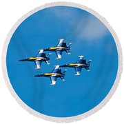Blue Angels 4 Round Beach Towel