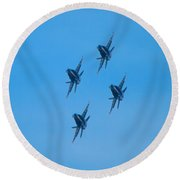 Blue Angels 7 Round Beach Towel