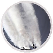 Blue Angels Fa-18c Hornet Aerial Round Beach Towel by Stocktrek Images