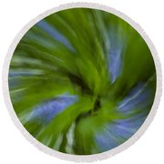 Blue Bells Vortex 3 Round Beach Towel