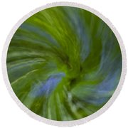 Blue Bells Vortex 4 Round Beach Towel