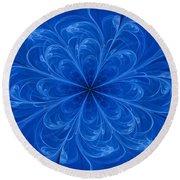 Blue Bloom Round Beach Towel